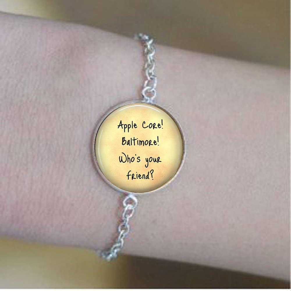 Friend Jewelry - Apple Core! Baltimore - Gift for Friend - Friend Bracelets - Friendship Bracelets - Funny Friend Gift