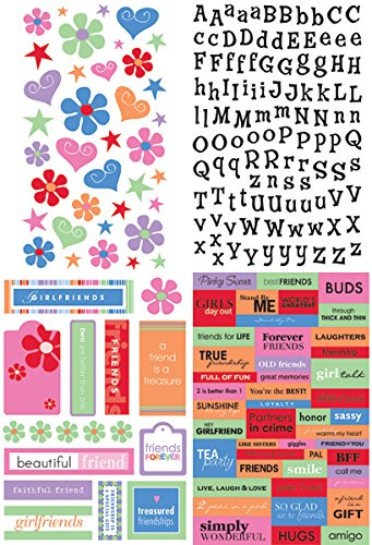 Glitter Stickers Value Pack-A Kid Like Me-Friends For Life 1