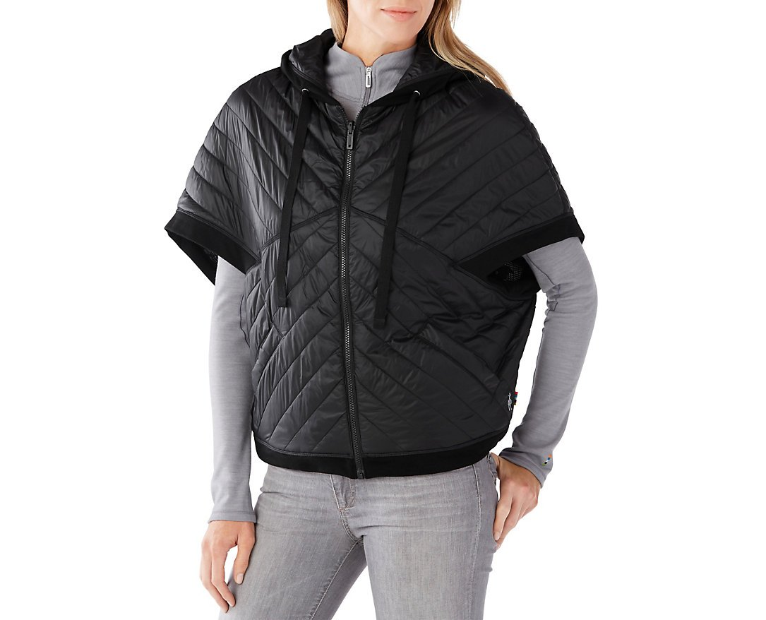 Smartwool Women's Urban Upslope Insulated Reversible Poncho (Black) Large/X-Large by SmartWool