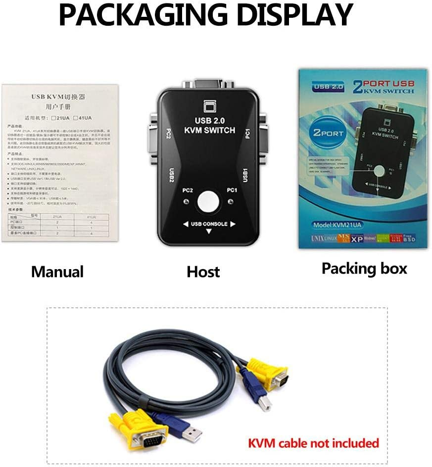 sumicorp.com KVM Switch Box Mit 2 Ports 2 In 1 VGA Out Manual ...
