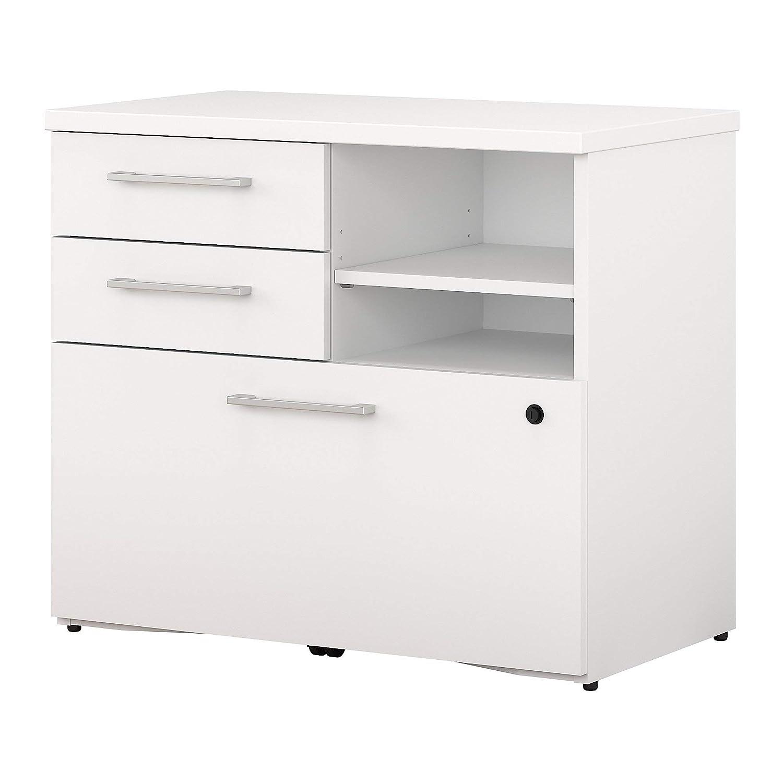 Bush Business Furniture 400 Series 30W Piler Filer Cabinet in White