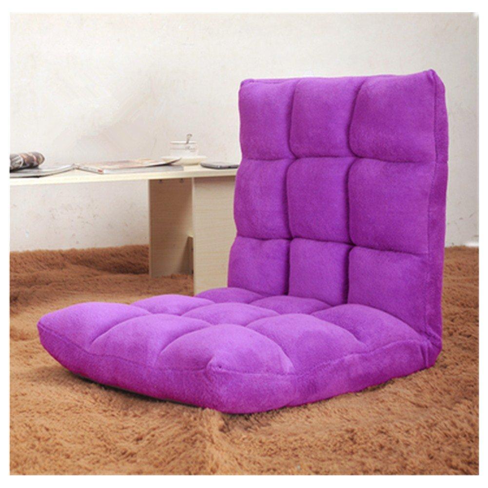 Purple Home Adjustable Memory Foam Floor Chair Sofa Recliner Lounge (Black)