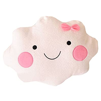 Sunday&May Cute Cloud Shape Pillow Sofa Back Cushion Office Nap Bolster White: Toys & Games