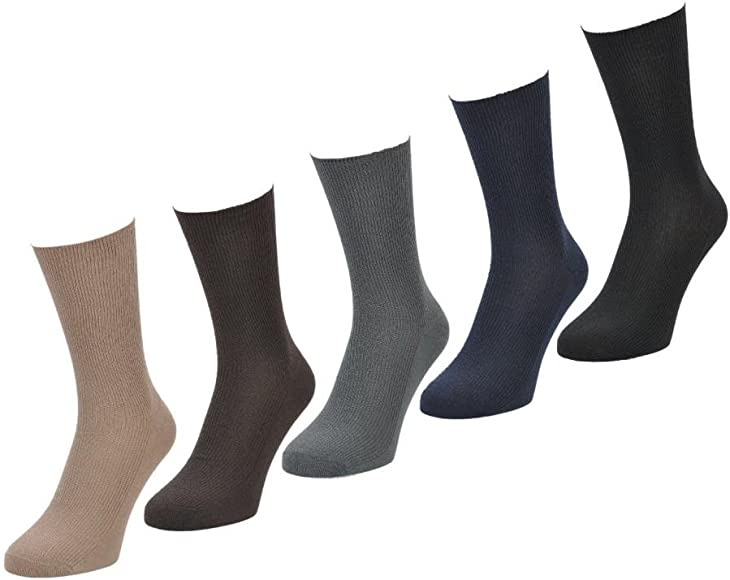6 PARES Hombre Big Foot Top Suelto No Elástico 100% Calcetines De Algodón - Talla 11-14 - Sin elástico - algodón, Colores Claros, 100% algodón. 100% algodón, Hombre, EU 39-45/UK 6-11: Amazon.es: Ropa y accesorios