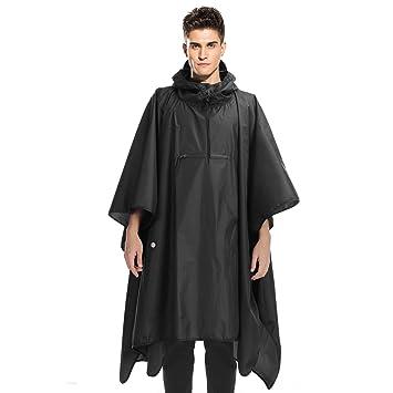 dc762673f Andake Raincoat, Rain Poncho for Women Men PU 8000 MM, Adjustable Neckline  Raincoat with