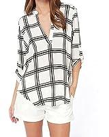 DaySeventh Women's Blouse Chiffon Long Sleeve Top T-Shirt Loose Shirt Tops