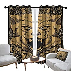 100% Polyester              MULTIFUNCTION       Curtains is delicately designed, allowing you to decorate your windows with great styles,Protect your furniture, floors and walls from the sun.        Featuring vibrant colored pat...