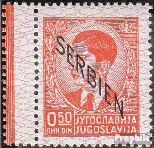 Serbia (German.cast.2.world.) 2L, with left anhängendem blank 1941 print edition (Stamps for collectors)