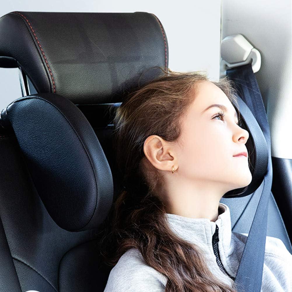 Elders and Passenger Xergur Car Headrest Pillow Adults Black Sleeping Travel Headrest Car Neck Support Pillow Car Neck Head Shoulder Sleep Cushion Car Side Pillows for Kids