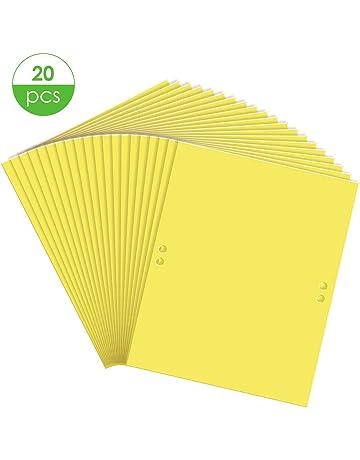 25Cm Pi/èges /à Mouches Collantes Jaunes 20Pcs Autocollants en Papier Volants Attrape-Mouches Collants /à Double Face pour Insectes Volants Pucerons Mineuses Aleurodes-20