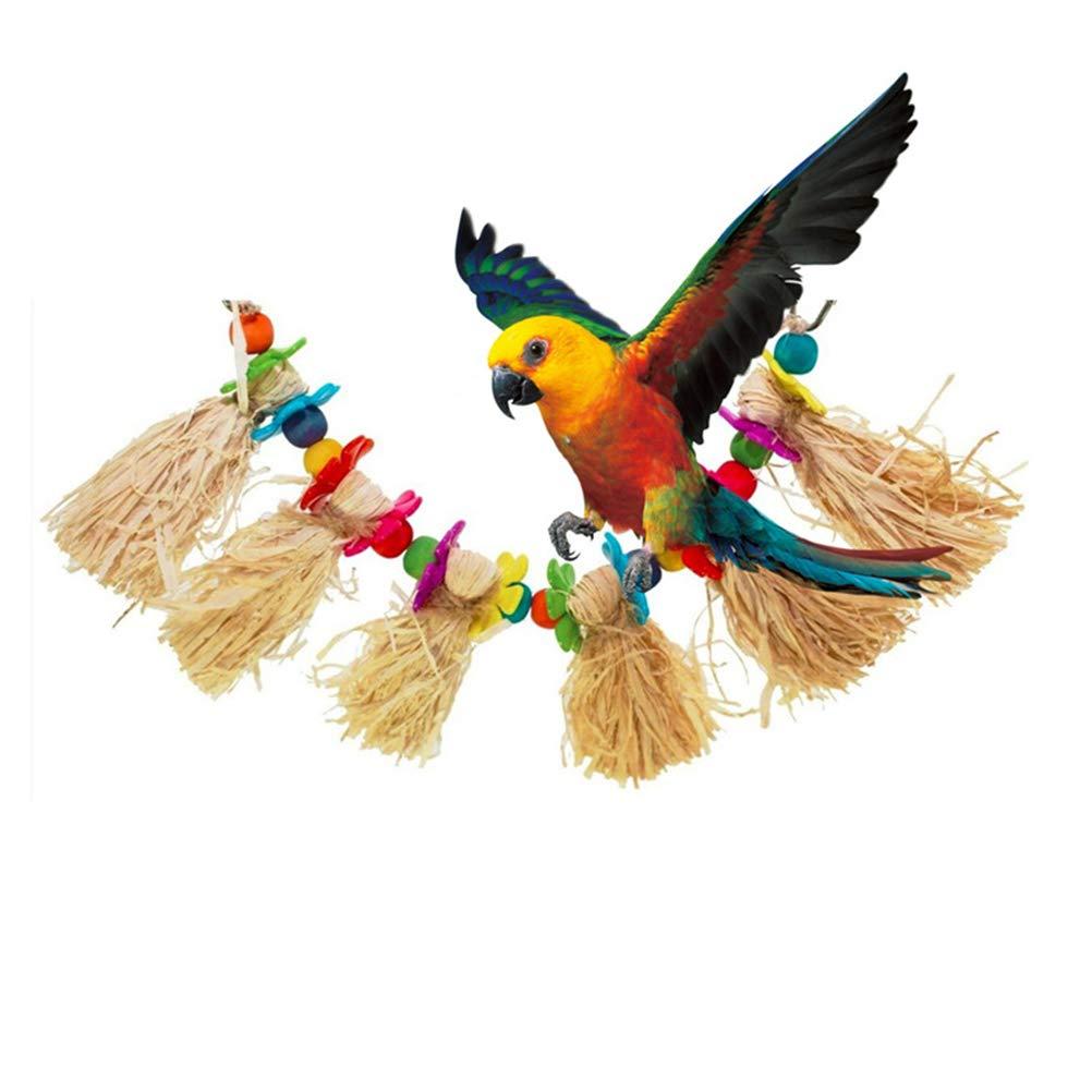 POPETPOP Jouets à Mâcher de Oiseaux, Acrylique Jouet pour Perroquet, Corde de Morsure en Bois Flexible pour Oiseaux Perruches Cockatiels et Oiseaux d'amour