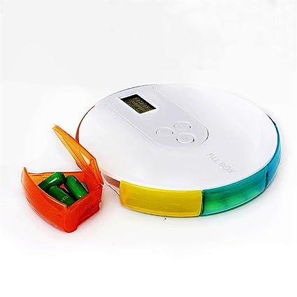 Dispensador De Píldora Redondo Automático Trabajo En El Hogar Al Aire Libre 7 Rejilla Pallet Electrónico