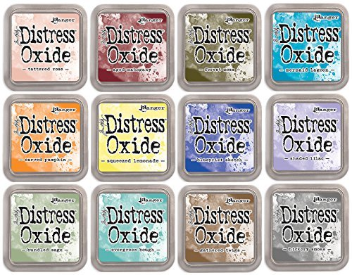 Aged Sage - Tim Holtz Distress Oxide Ink January 2018 - 12 Item Bundle