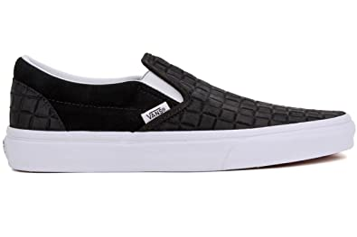 aa376eeb5ac Vans Unisex Classic Slip-On Suede Checkers Black