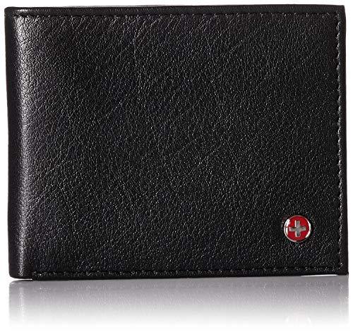 Alpine Swiss Mens RFID Blocking Genuine Leather Slim Bifold Wallet