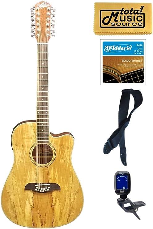 Oscar OD312CE Schmidt - Guitarra de arce con 12 cuerdas: Amazon.es ...