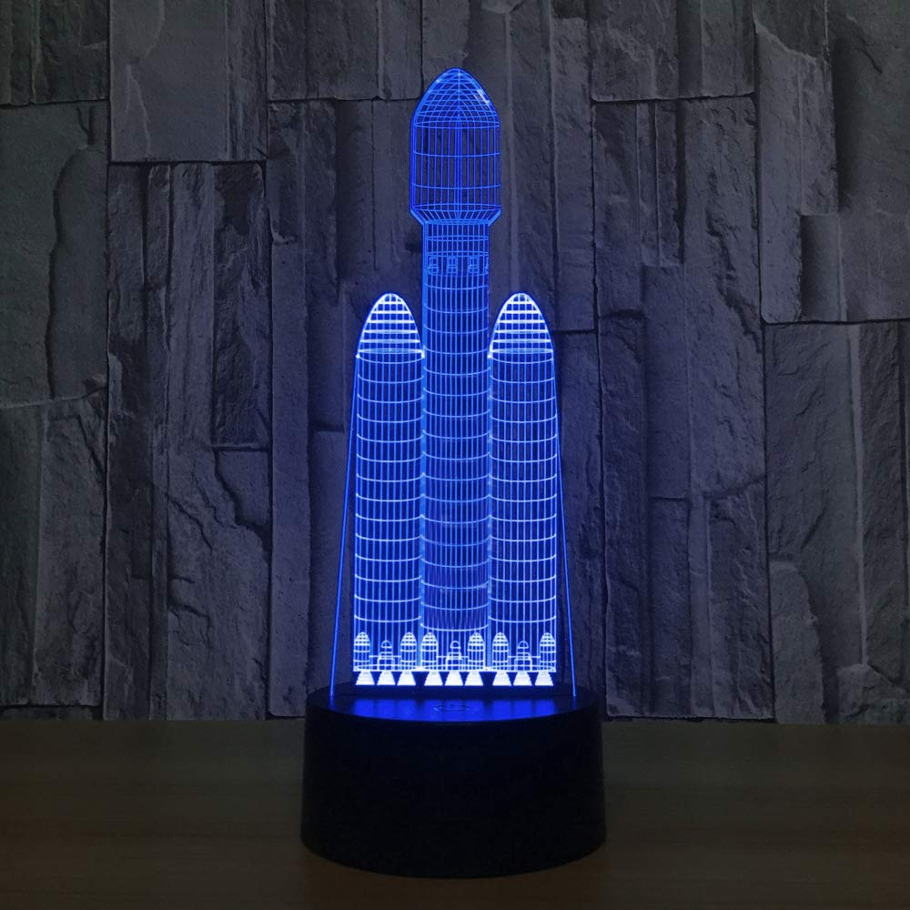 3d illusion lampe//led 7 f/ür wohnzimmer bar beste geschenk//spielzeug//schlaf beleuchtung//usb//airbus flugzeug orangeww 3d nachtlicht