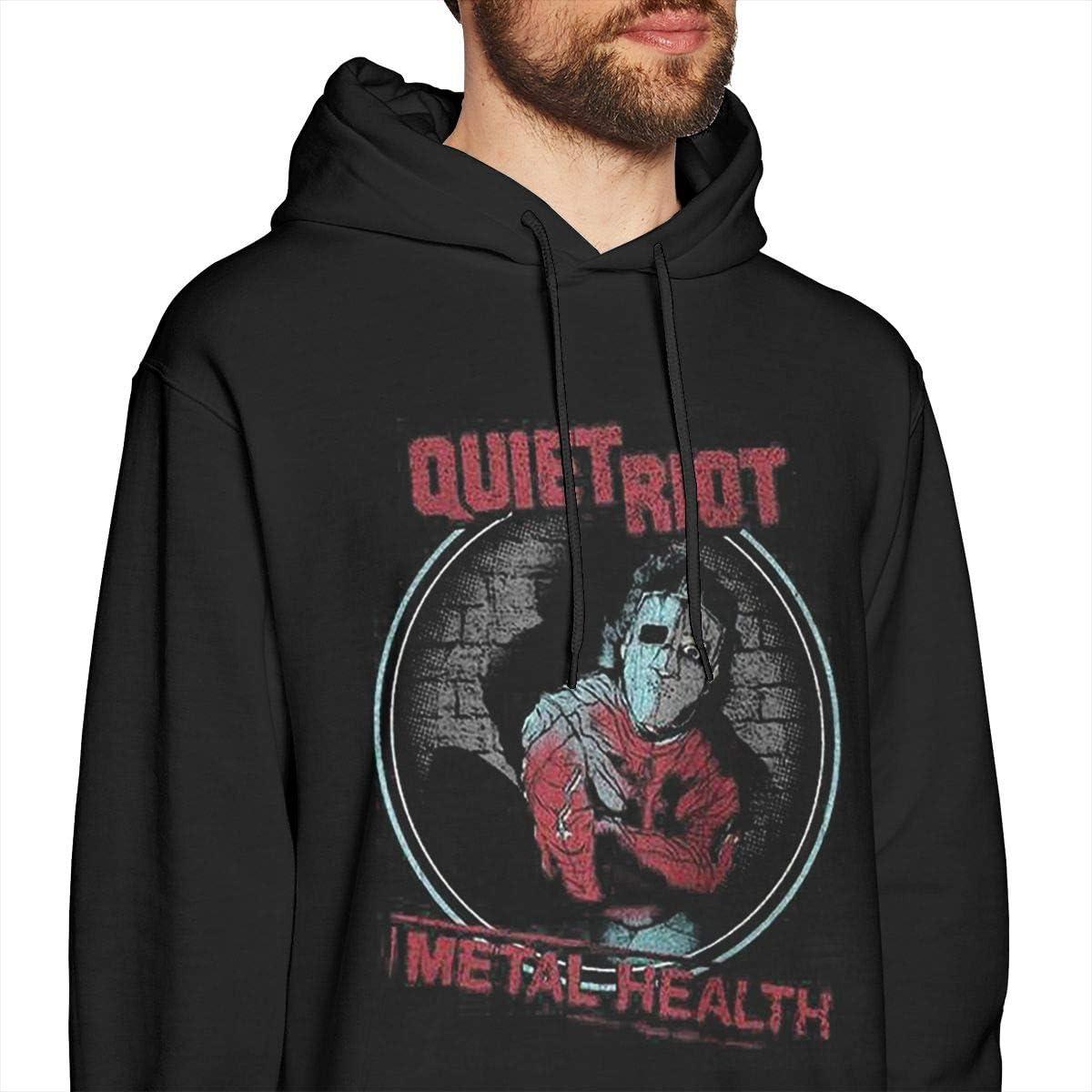 COURTNEY FRANCIS Quiet Riot Cool Mens Long Sleeve Sweatshirts Mans Hoodies Black