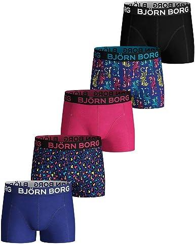 Bjorn Borg 2-Pack Leopard Print /& Solid Men/'s Boxer Trunks Black