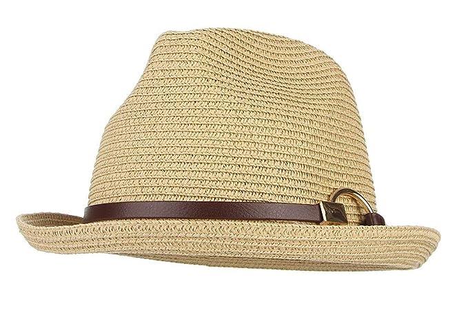 Gorros Unisex Sombrero De Hombre para Sol Playa De Modernas Casual Verano Sombrero De Paja Sombrero De Panamá Jazz Sombrero Protector Solar Sombrero Tamaño ...