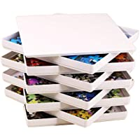 Puzzibly White Puzzle Sorting Trays with LID Jigsaw Puzzle sorters Organizers Holders fit up to 1000 Puzzle Pieces…