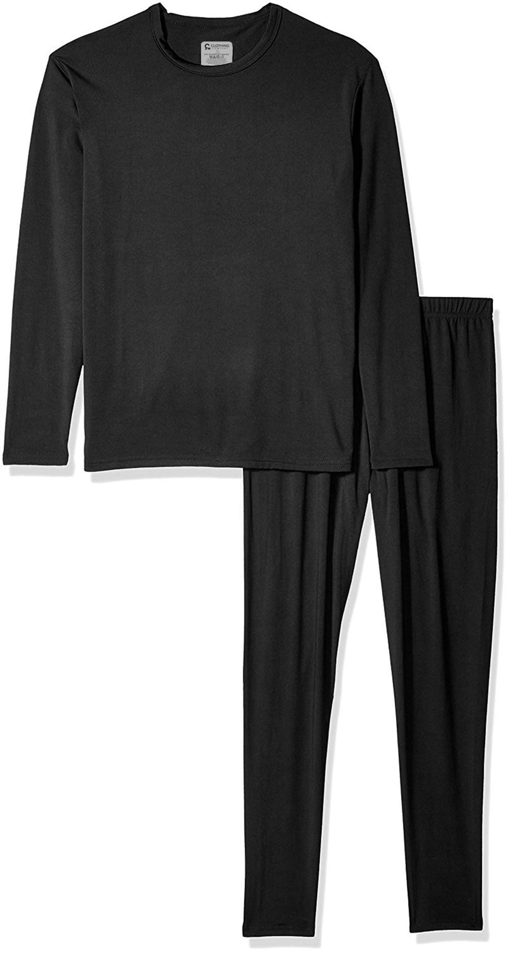 9M Men's Ultra Soft Thermal Underwear Base Layer Long Johns Set with Fleece Lined, Black, Large by 9M Clothing Company