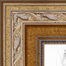 "ArtToFrames Wom-16x20-63G-1 inch Traditional Wood Picture Frame, 16 x 20"", Gold"