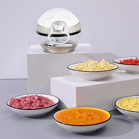 Picadora Manual de Alimentos, Mini Cortador Manual, Procesador de Alimentos, Utensilio de Cocina: Amazon.es: Hogar
