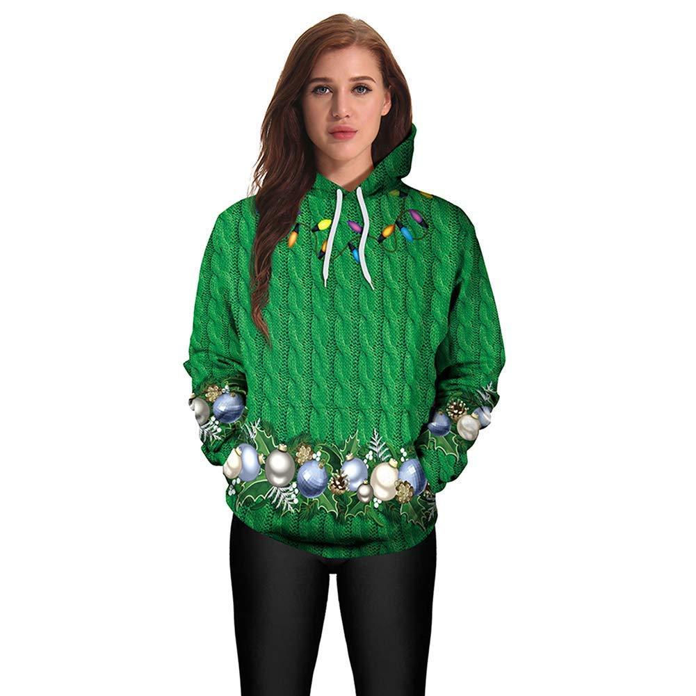 FuweiEncore Unisex Hoodies 3D Print Long Sleeve Sweatshirt Weihnachts Paare Hoodies Top Bluse Shirts Abendkleid Bühnen Performance,3,XXL (Farbe   2, Größe   M)