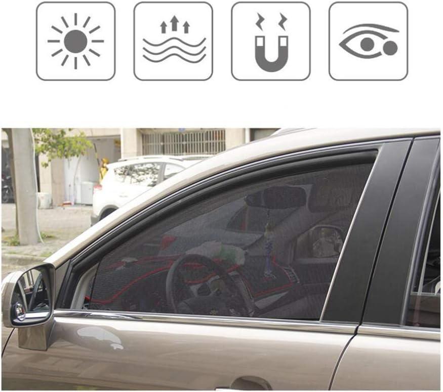 Wakauto 2 Pz Paralume per Auto Aggrapparsi Al Parasole per Vetri per Auto Abbagliamento Protezione Dai Raggi Uv Raggi Del Sole Finestrino per Auto Parasole Tenda Anteriore E Tenda Posteriore