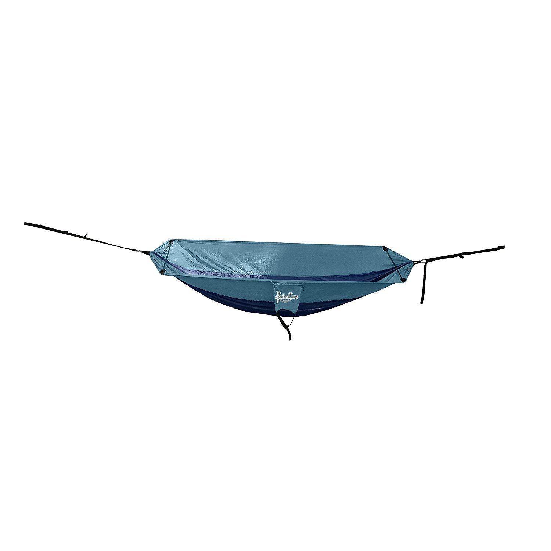 PahaQue Wilderness Single Hammock Navy/Light Blue [並行輸入品] B077QLBCS3