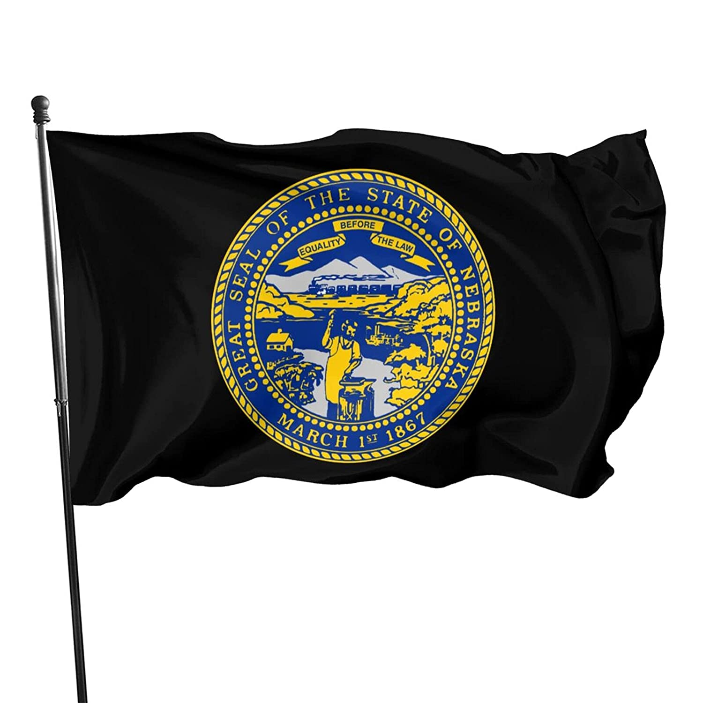 Nebraska Flag Garden Flag Lives Matter Flag For Welcome Yard Outdoor Decoration 3*5 Ft