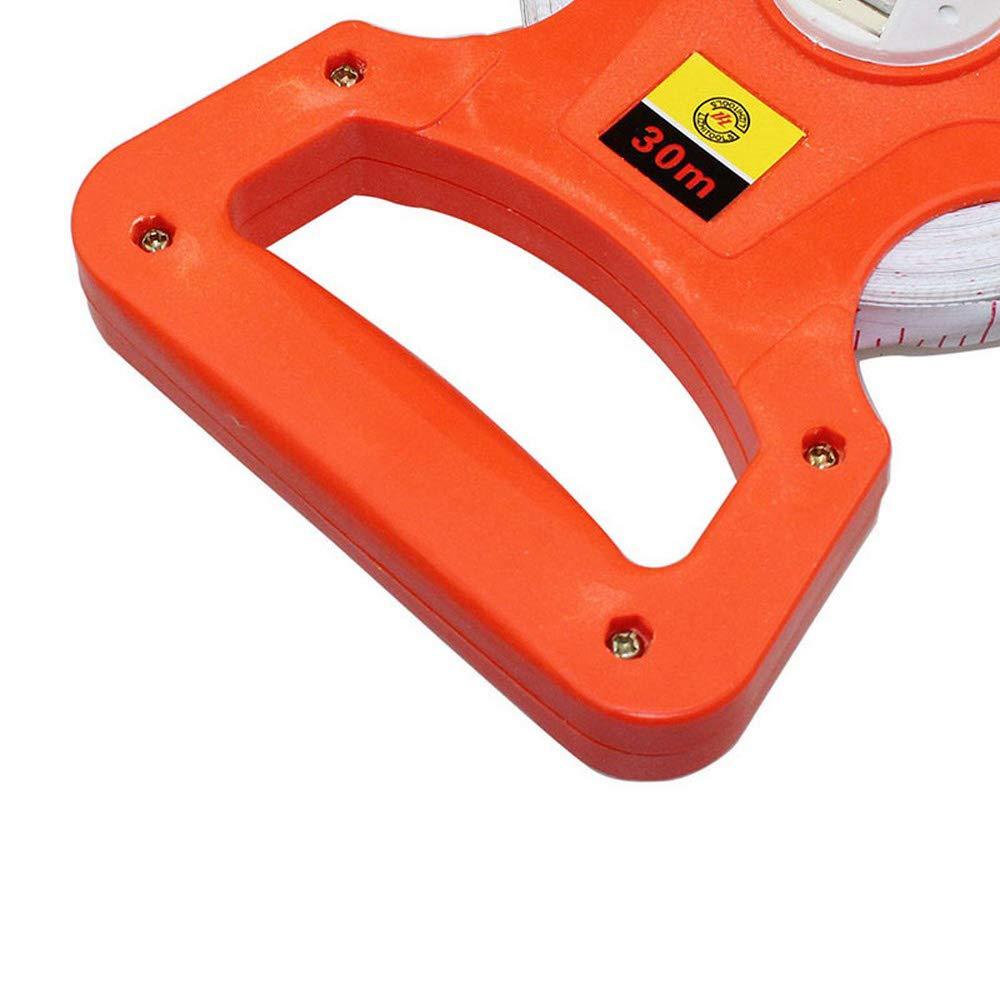 50M//165FT 165Ft Fiberglass Tape Measure,50M Tape Measure,Easy to Read Inch and Metric Graduation Resistant Tape Measure