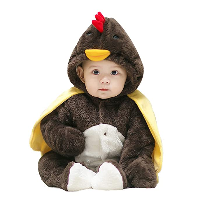 e672b928c LoveAMZ Chicken Baby Costume Toddler Romper Cotton Jumpsuit for ...