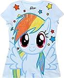 My Little Pony Rainbow Dash Sparkle Hair Youth Light Blue T-shirt