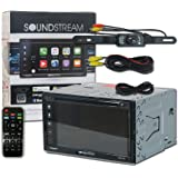 """Soundstream VRCP-65 Double DIN 2-DIN 6.2"""" Apple CarPlay DVD MP3 CD Receiver Bluetooth SiriusXM-Ready + Remote and DCO Back-up Camera Night Vision Wide Angle View (Optional Camera)"""