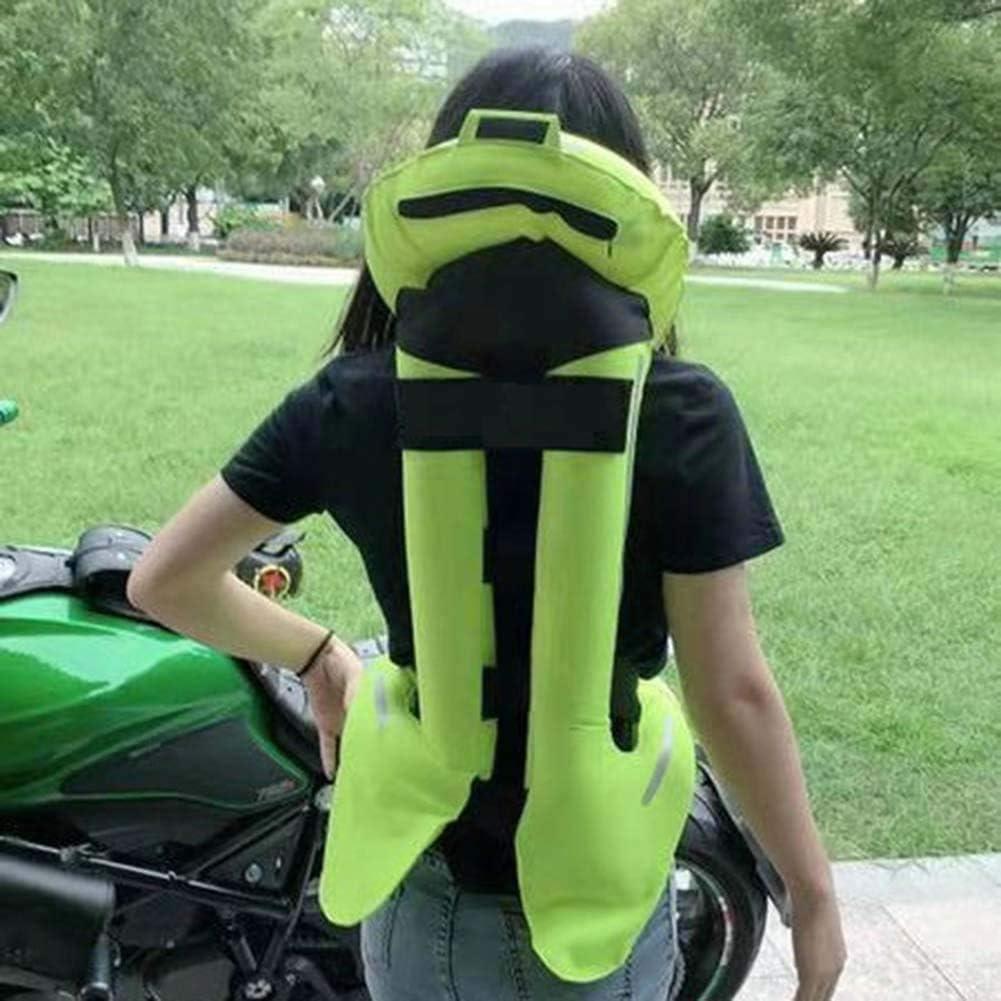 KAIWM Airbag De Motocicleta Bicicleta Chaleco Reflectante Lágrima Resistente A La Abrasión Es Suave Y Fácil De Limpiar Airbag Chaleco Adecuado para Motocicletas Y Vehículos Todo Terreno,Verde,XL