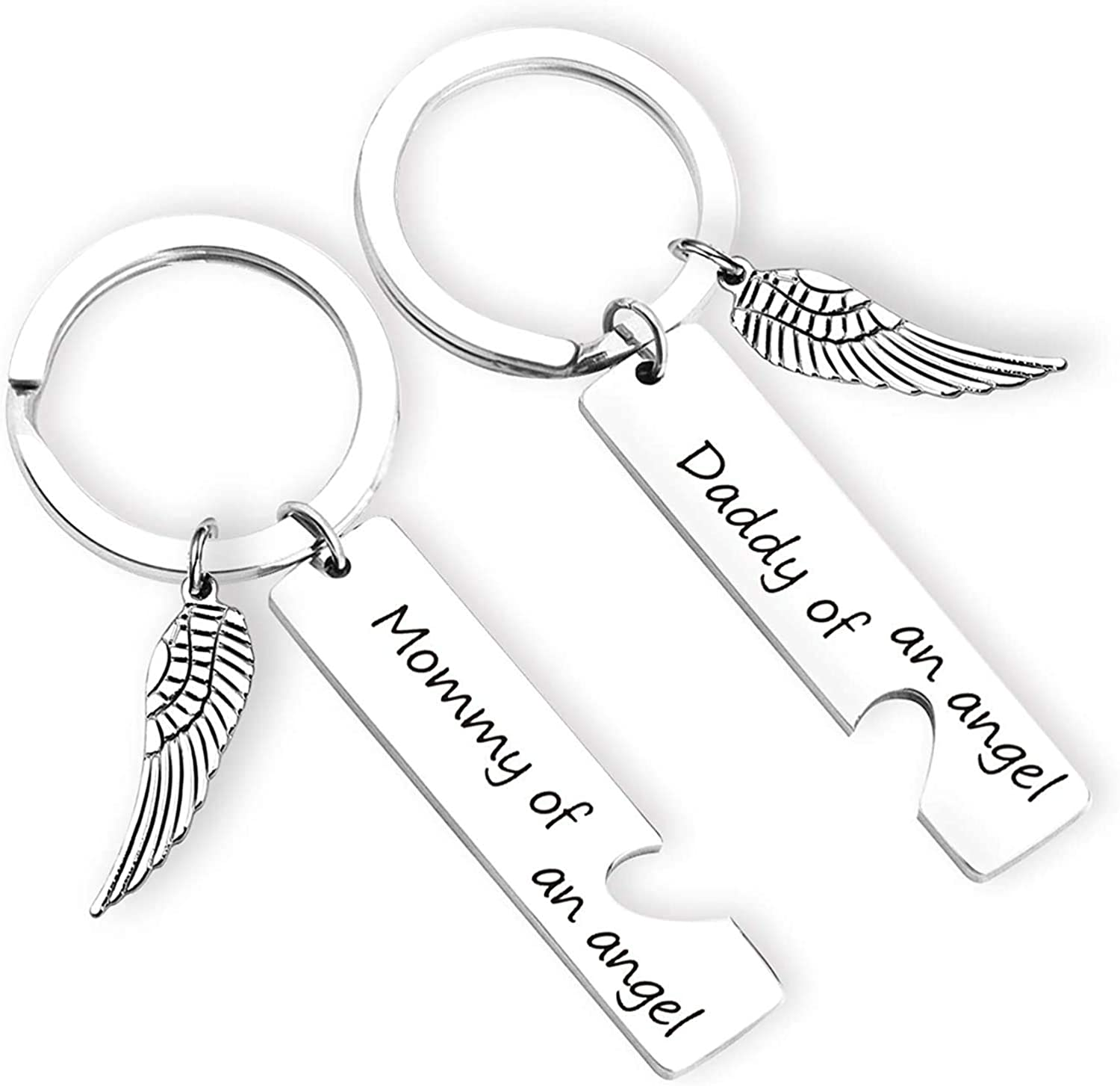 EIGSO Loss Memorial Keychain Mommy/Daddy of an Angel Miscarriage Jewelry Memorial Sympathy...