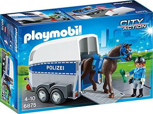 Playmobil 6875 Berittene Polizei Mit Anhänger Amazon De Spielzeug