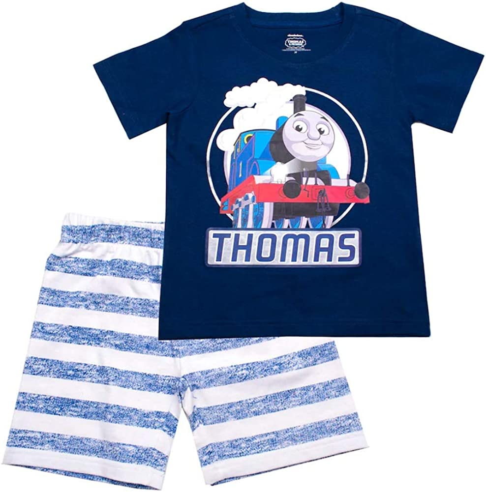 Toddler Boy Thomas The Train Graphic Tee /& Striped Shorts Set