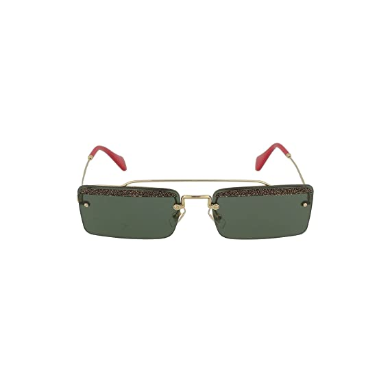 8274a170391 Miu Miu SOCIÉTÉ SMU59T PALE GOLD GREEN women Sunglasses  Amazon.co.uk   Clothing