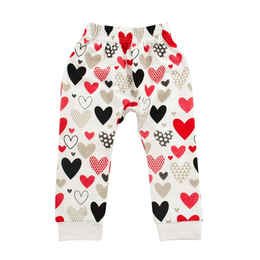 Iuhan Toddler Baby Girls Outfit Set I PAPA MAMA Letter Tops Heart Pants Clothing