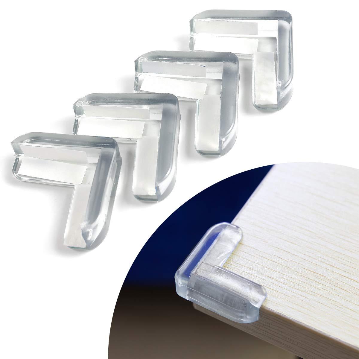 Kindersicherungen 4x Tisch Kantenschutz Eckschutz Glastisch Eckenschutz Baby Kinder Aus Silikon