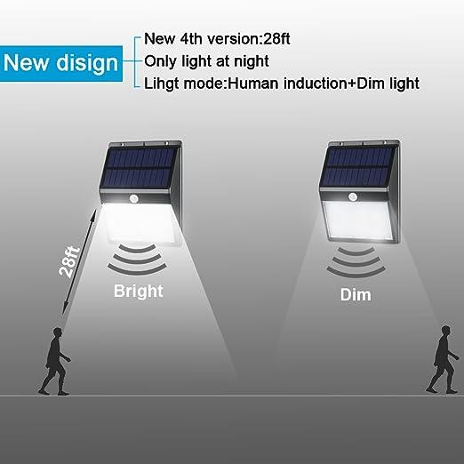 Detector sin hilos 16 LED Luz solar del sensor de movimiento impermeable al aire libre de Seguridad para el jardín / Camino / Porche / jardin / Calle ...