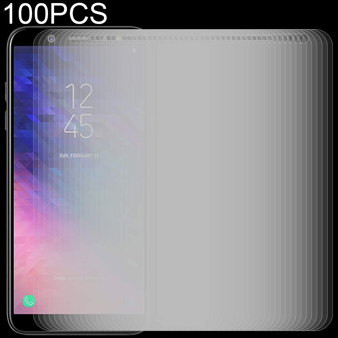 ZHANGYUNSHENG 100 PCS 0.26mm 9H 2.5D Tempered Glass Film for Galaxy A6+ 2018 zys