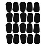 uxcell 20pcs Furniture Desk Chair Round Rubber