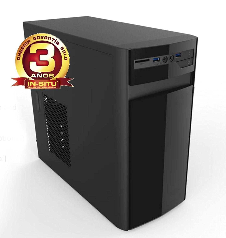 Phoenix Technologies ZENIT-R3-318 - Ordenador de sobremesa Micro ATX (procesador MD Ryzen 3 2200G, DDR4 4 GB y Capacidad Almacenamiento de 1 TB), Color Negro
