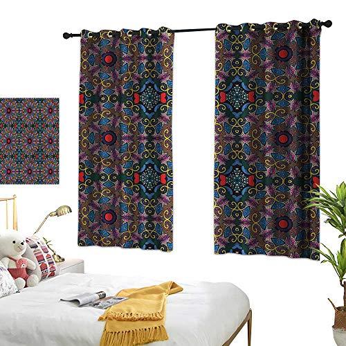 G Idle Sky Simple Curtain Ethnic Printing Insulation Bullseye Circles Rhombuses 63