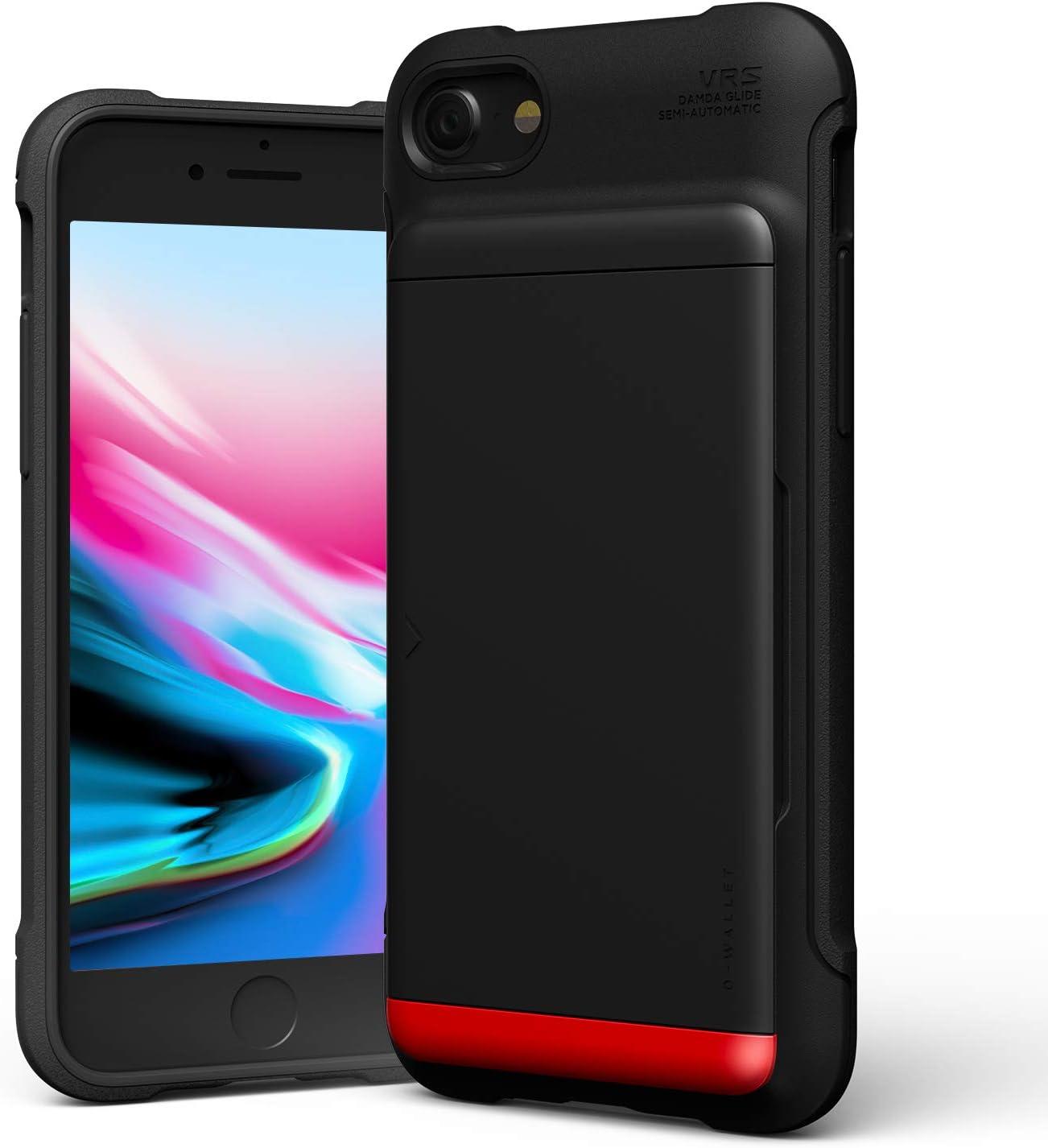 iPhone SE (2020) / 8 Case, VRS Design Damda Glide Shield Heavy Duty Protective Vault Grip TPU Semi-Auto Slide Slim Shockproof Credit Card Slot Wallet Case Compatible with Apple iPhone SE (2020) / 8/7