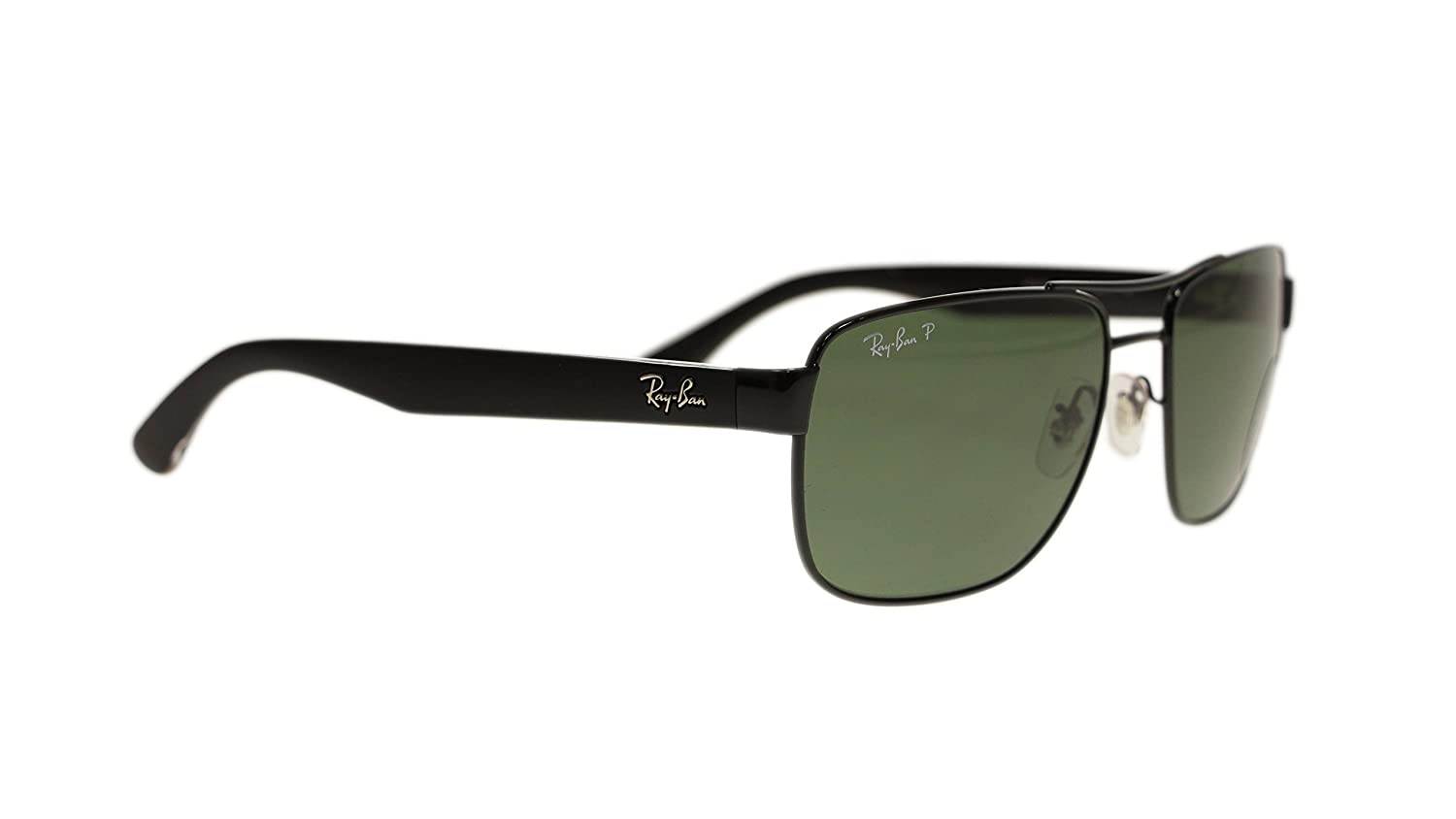 4b1f7314c4 Amazon.com  Ray Ban Mens Sunglasses RB3530 002 9A Black Green Lens 58mm  Authentic  Clothing